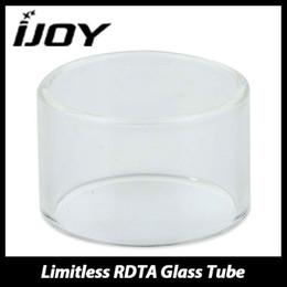 rdta glass Rebajas Al por mayor-IJOY de alta calidad sin límite del tubo del tanque RDTA tubo de vidrio de repuesto puro para ilimitado RDTA Atomizador tanque Ecig