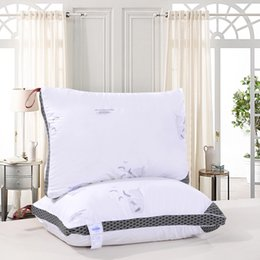 Wholesale Feather Pillows - Wholesale- Free Shipping 48*74*20cm Antibacterial anti mite feather velvet stereo pillow   cotton pillow   cushion   can wash the pillow