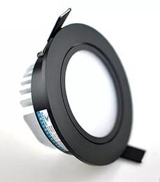 Decorazione luci soffitto online-Guscio nero 9W / 10W / 12W LED Down light COB Dimmable LED Downlights incasso a soffitto Lampada per illuminazione domestica Decorare AC110v 220v LLFA