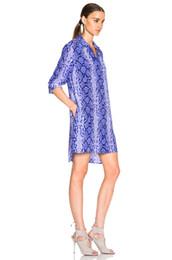 Wholesale Snake Print Dresses - garment factory wholesale long sleeve office ladies 100%silk women wedding dresses shrits dress sandwash cdc snake print JOIE,EQUIPMENT