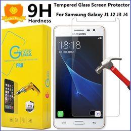 Wholesale Ace Screen - For Samsung J1 Tempered Glass Screen Protector Galaxy J3 Emerge J1 ACE Mini J2 J5 Prime J3 J5 J7 2017 2.5D 9H Premium Glass Film Paper Box
