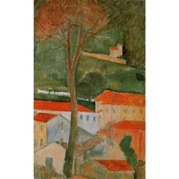 Kunst Geschenk Ölgemälde von Amedeo Modigliani Landschaft handgemalte abstrakte Kunst hoher Qualität von Fabrikanten