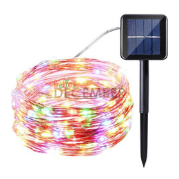 Wholesale pumpkin lights - 10M-100LEDs 20M-200LEDs 30M-300LEDs LED Solar String Lights 8-Modes RGB Blue Red Green Pink Purple Warm Cool LED Waterproof Light Strings