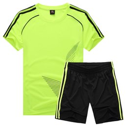 Wholesale Clothing Stops - Football suit, children's short sleeved shirt, men's and women's light board, football training clothes, primary school students, customized