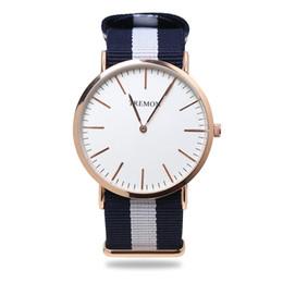 Wholesale blue glass gems - Top Brand Luxury Watches Men Women Fashion Casual Sport Clock Classical Nylon Male Quartz Wrist Watch Relogio Masculino Feminino
