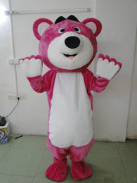 Wholesale Red Bear Mascot Costume - 2018 Factory direct sale Cartoon Pink LOTSO Bear Mascot Costume Pink Bear Mascot Costume sales free shipping