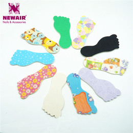 Wholesale Foot Buffer - Wholesale- 5PCS Sanding Solid Nailfile Colorful Foot Designs Color Nail Files Buffer Disposable Salon Manicure Tools Fashion