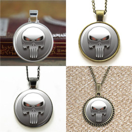 Wholesale Punisher Logo - 10pcs The Punisher Logo Necklace keyring bookmark cufflink earring bracelet