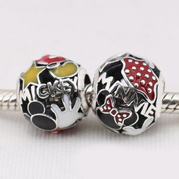 Wholesale Mouse Charms - Authentic 925 Silver Beads Sterling Mouse Mania Charm Fits European Style Jewelry Bracelets & Necklace