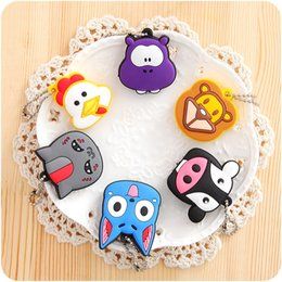 Wholesale Keys Caps Covers - Mini Animal Key Cover Cartoon Cat Silicone Keys Cap For Women Bag Pendant Keychain Many Styles 0 65tg C R