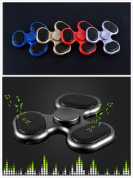 Wholesale Plants Supports - Newest LED Fidget Spinners Bluetooth Music Hand Spinner MP3 Player Spinner Support Micro SD TF Card For ADD, ADHD Finger Toys JC328