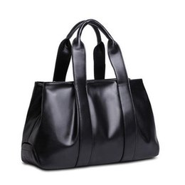Wholesale Pandora Tote - 2017 European new style solid color women shoulder bags fashion retro soft leather handbag casual tote bags