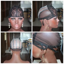 Wholesale Weaving Wig Cap Net - Wig Caps For Making Wigs adjustable straps back swiss lace full front lace wig cap wig weave net hair extension