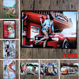 Wholesale Advertising Arts - Metal Bar Painting Tin Sign Advertising Girl Tin Poster Happy Birthday Easter Iron Painting Cupcake Queen Home Furnishing Beer