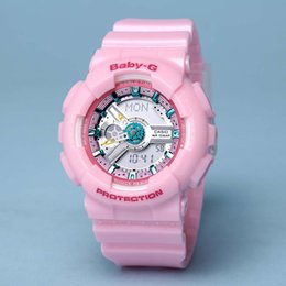 Wholesale Baby Shocks - Popular Mens Sports Hiking Watches LED Digital Baby G Wristwatch GA110 Waterproof Shock Watch All function Work