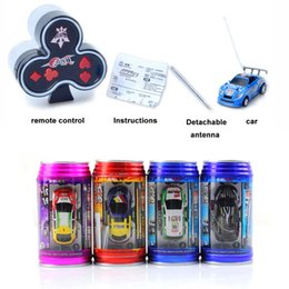 Wholesale Toy Race Cars For Sale - Wholesale- Coke Can Mini Rc Radio Remote Control Micro Racing Electric 1 64 4CH 4WD High Speed Mini Rc Car Toys For Boys Sales Promotion