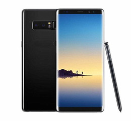 Wholesale Russian Free Tv - Free DHL 6.3inch Goophone Note8 Real Fingerprint 4GB RAM 64GB ROM 13MP Android Show Octa Core 4G LTE Note 8 Cell phones