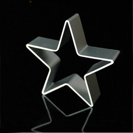 Wholesale Wholesale Pastry Cutters - Wholesale- Star Shaped Aluminium Mold Sugarcraft Biscuit Cookie Cake Pastry Baking Cutter Mould Tool pastry tools baking tools for cakes