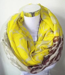 Wholesale Neon Scarfs - Wholesale-11 color Neon Color Leopard Print Infinity Scarf Snood Women's big size Leopard scraf Free Shipping