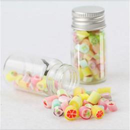 Wholesale Clear Candy Container Wholesaler - 47*120*34mm 150ml Glass Bottles Aluminium Cap Empty Transparent Clear Liquid Gift Candy Container Wishing Bottles Jars 12pcs lot
