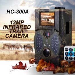 Cámara de exploración de juegos online-Venta al por mayor-Venta caliente 12MP cámaras del rastro de la fauna Scouting cámara digital cámara de caza del rastro infrarrojo HC - 300A Trap Game cámaras de la fauna