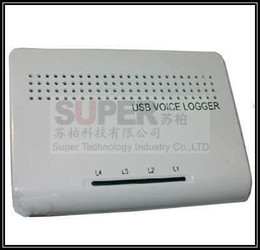 Wholesale Usb Voice Activated Recorders - Wholesale- 3pcs lot,4 ch remote monitor voice activated USB telephone recorder,telephone monitor,USB telephone monitor,USB phone logger