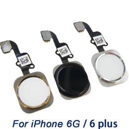 Wholesale Iphone Home Flex - Home Button Flex Cable for iPhone 6G 6Plus , grage A+ Home key with Flex Ribbon Assembly