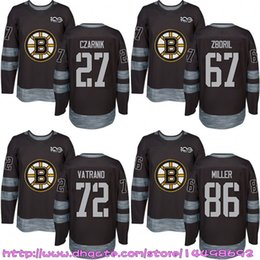 871f7ce1fc1 Custom Mens Womens Kids 2017-2018 New Logo Boston Bruins 86 Kevan Miller 47  Torey Krug 27 Austin Czarnik 72 Frank Vatrano Hockey Jerseys