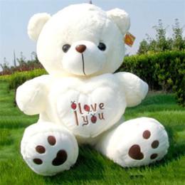 großhandel plüsch hai Rabatt 50cm Riesengroßes Riesengroßes Teddybär Plüschtier I Love You Valentine Geschenk