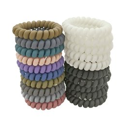 Wholesale wires holder - Lots 100 Pcs Size 5.5cm Gum For Hair Accessories Ring Rope Hairband Elastic Hair Bands For Women Telephone Wire Scrunchy