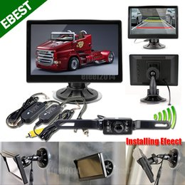 "Wholesale Reverse Camera Wireless System - Wireless Car Reversing Backup Camera System Digital 5"" inch 2 Ch Mirror Monitor"