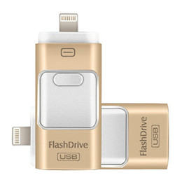 Wholesale Phone Flash Drives - For iPhone 7 6 Samsung Android phone PC 3 in 1 OTG USB3.0 Flash Drives 8GB-16GB-32GB-64GB Memory stick Pendrive i Flash Drive