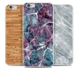 Wholesale For iphone plus s plus marble silicon soft TPU cases wood Painting colorfully protector Cell Phone Cases