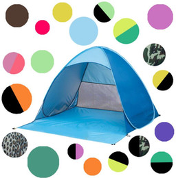 Wholesale Single Person Beach Tent - utdoor Quick Automatic Opening Tents Instant Portable Beach Tent Shelter Hiking Camping Family Tents For 2-3 Person KKA1884