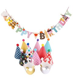 Wholesale Handmade Decoration Pieces - 11 Pieces Happy Birthday Party Hats Polka Dot DIY Cute Handmade Cap Crown Shower Baby Decoration Boy Girl Gifts Supplie