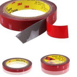 Wholesale modern style interior - 3M Double-sided tape Acrylic Foam Adhesive Auto Car Styling Interior Tape Decorate Glue Stick Car-styling Width 10mm