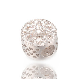 Wholesale Shamballa Bracelet White Black - Unique Pandora Shamballa Ball Cubic Zirconia Beads Fits European Bracelet or Necklace, ICPD025, Size 12*8.5mm