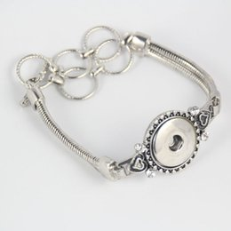 Wholesale Bracelets Jewerly Boxes - Wholesale- 2pcs lot new flower men Womens unisex interchangeable silver plated 18mm snap bracelet fit ginger snap jewelry charm jewerly