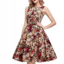Wholesale Mid Wholesale Bodycon Dresses - Wholesale- Fashion Cotton Women Print Dress 2017 Sexy party Summer dresses Sleeveless Women casual Dress clothing bodycon dresses LLD07