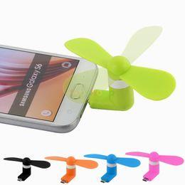 Wholesale I5 C - Mini Cool Micro USB Fan Mobile Phone USB Gadget Fans Tester For type-c i5 Samsung s7 edge s8 plus