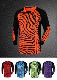 Wholesale Polyester Uniform Pants - #212 men goalkeeper soccer jerseys set sponge football long sleeve goal keeper uniforms goalie sport training suit top pants best quality