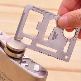 Argentina 11 en 1 Swiss Army Knife Multi-función de acero inoxidable que acampa herramienta de la tarjeta cuchillo al aire libre cuchillo abridor de botellas Propotabel supplier ce camping knife Suministro