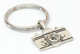 Wholesale Vintage Camera Jewelry - Hot 10pcs Lot Fashion Jewelry Vintage Plated Silver Camera Charm Steampunk Keychain DIY Keyring Accessories Holiday Gifts S756