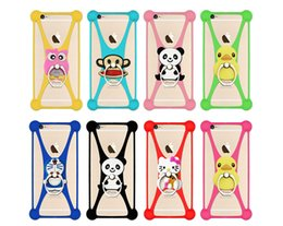 Wholesale Soft Green Cover - Phone covers for iphone 8 6 65 7 S8 Note 8 Universal 3D pattern soft Silicone Case Frame with finger ring phone holder