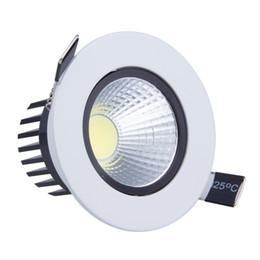 Decorazione luci soffitto online-All'ingrosso- 9W LED Down light COB Dimmerabile LED da incasso a soffitto downlights Lampada da tavolo per illuminazione domestica Decorare