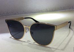 gafas de sol de ojo de gato coreano Rebajas Envío gratis nuevo diseñador sunglass coreano diseñador Irresistor 008 modelo de moda gato ojo marco espejo lente estilo fresco y brillante con caja oroignal