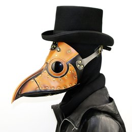 Wholesale Bird Costume Adults - Unisex Steam punk Plague Bird Doctor Nose Cosplay Fancy Gothic Medieval Steampunk Retro Rock Mask for Masquerade Party Halloween Costume