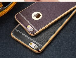 Wholesale Litchi Stria Leather Case - Lichee Pattern PU Case for Iphone 6 6Plus 6s Plus 7 7Plus Litchi Stria Shell Anti Wrestling imitation leather Covers Artificial leather Case