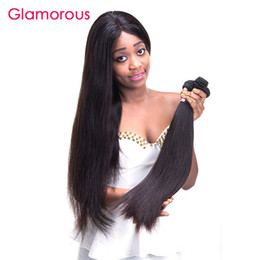 Wholesale Popular Hair Pieces - Glamorous Brazilian Hair Weaves 3 Bundles Straight Hair Extensions Most Popular Malaysian Indian Peruvian Virgin Hair Weaves for black women
