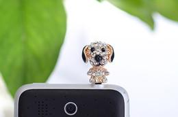 Wholesale Dog Anti Dust Earphone Jack - 2017 Universal 3.5MM Ear Cap Earphone Jack Plug Dust Proof Cellphone Anti-Dust Gadgets for Smartphone Cute dog Plug Drop Shipping